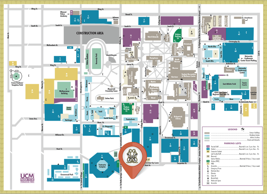 Map of UCM Campus